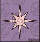 Чипборд. Рождественская звезда. Маленькая, cb-304