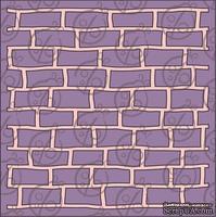 """Чипборд. Фон """"Кирпичная стена"""" №1, 15х15 см cb-366"""