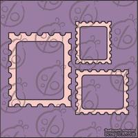 "Чипборд. Набор рамок ""Почтовые марки"" cb-341"