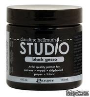 Грунт гессо Ranger - Claudine Hellmuth Studio Black Gesso, цвет черный