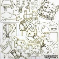 Набор чипборда от Каралики - Мамина Звездочка, 59 элементов