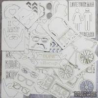 Набор чипборда от Каралики - Hipster, 62 элемента