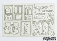 Набор чипборда от Каралики - Дверь в мечту, 20х12,5 см размер планшетки, 22 элемента