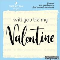 "Штамп ""will you be my VALENTINE"" NL061 NL061-1, 4x2.4 см"