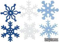 Снежинки из фетра Creative Impressions -  Winter, 36 штук