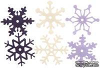 Снежинки из фетра Creative Impressions -  Heritage Winter, 36 штук