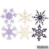 Снежинки из фетра Creative Impressions - Heritage Winter, 24 штуки