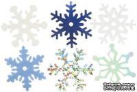 Снежинки из пластика Creative Impressions -  Medium Shimmer Snowflakes, 75 штук