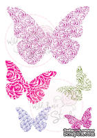Акриловые штампы от Wild Rose Studio - Wedding Butterflies, 5 шт