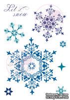 Акриловый штамп от Wild Rose Studio - Snowflakes