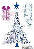 Акриловые штампы от Wild Rose Studio - Christmas-tree, 3 шт.