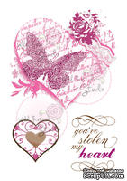 Акриловый штамп от Wild Rose Studio - Vintage Heart