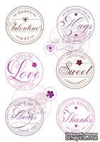 Акриловые штампы от Wild Rose Studio - Love Circles, 8 шт