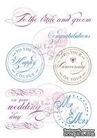 Акриловые штампы от Wild Rose Studio - Wedding Circles, 6 шт