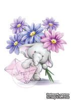 Акриловый штамп от Wild Rose Studio - Bella with Flowers
