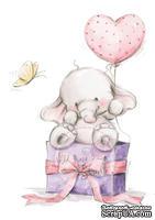 Акриловый штамп от Wild Rose Studio - Bella with Bella with Balloons