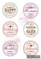 Акриловые штампы от Wild Rose Studio - Birthday Circles