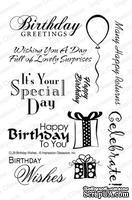 Резиновый штамп от Impression Obsession - Clear Stamp Sets - Birthday Sentiments