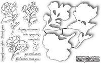Набор ножей и штампов от Poppystamps - Peony Stems and Blossoms