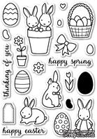 Штампы от Memory Box - Springtime Bunnies clear stamp set