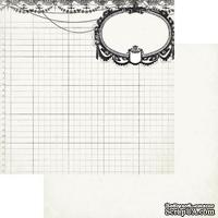 Двусторонний лист скрапбумаги Authentique - Classique Elegant -Elegant Two, 30х30 см
