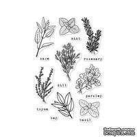 Набор акриловых штампов от Hero Arts - Fresh Herbs