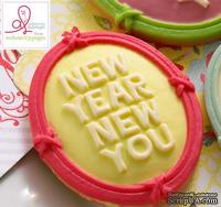 Украшение Webster's Pages - New Year New You Розовая Рамка, 10 штук