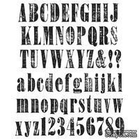 Набор резиновых штампов Stampers Anonymous - Tim Holtz - Большой алфавит - Worn Text