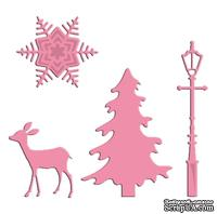 Лезвие Marianne Design - Collectable Dies & Stamp Set - Xmas Village Decoration