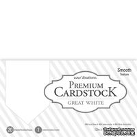 Набор кардстока DCWV Core'dinations Value Pack Smooth Cardstock, Great White, 30х30 см, 20 листов, белый