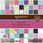 Набор скрапбумаги от Recollections™ - All Girl, 30х30 см, 180 листов
