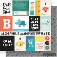 Лист скрапбумаги  от Crate Paper - Cool Kid - Run & Jump, 30х30см