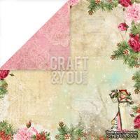 Лист скрапбумаги от Craft and You Design - Christmas Story,  30х30 см, CP-CS05