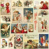 Лист скрапбумаги с картинками от Craft and You Design - Christmas Story,  30х30 см, CP-CS07