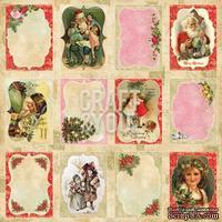Лист скрапбумаги с картинками от Craft and You Design - Christmas Story,  30х30 см, CP-CS08