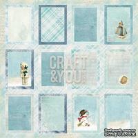 Лист скрапбумаги c картинками от Craft and You Design - Frozen Paper,  30х30 см, CP-FP07