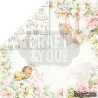 Лист скрапбумаги от Craft and You Design - Hello Baby, 30х30 см, CP-HB01