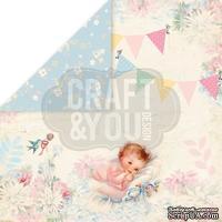 Лист скрапбумаги от Craft and You Design - Hello Baby, 30х30 см, CP-HB02 - ScrapUA.com