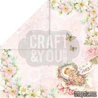 Лист скрапбумаги от Craft and You Design - Hello Baby, 30х30 см, CP-HB03