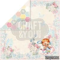 Лист скрапбумаги от Craft and You Design - Hello Baby, 30х30 см, CP-HB04