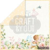 Лист скрапбумаги от Craft and You Design - Hello Baby, 30х30 см, CP-HB06