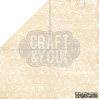 Лист скрапбумаги от Craft and You Design - My Wedding, 30х30 см, CP-MW01