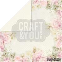 Лист скрапбумаги от Craft and You Design - My Wedding, 30х30 см, CP-MW04