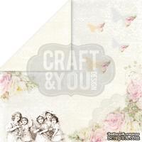 Лист скрапбумаги от Craft and You Design - My Wedding, 30х30 см, CP-MW05
