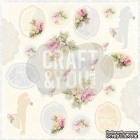 Лист скрапбумаги от Craft and You Design - My Wedding, 30х30 см, CP-MW07