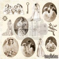 Лист скрапбумаги от Craft and You Design - My Wedding, 30х30 см, CP-MW08