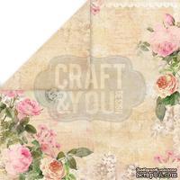 Лист скрапбумаги от Craft and You Design - Vintage Time, 30х30 см, CP-VT02