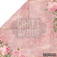 Лист скрапбумаги от Craft and You Design - Vintage Time, 30х30 см, CP-VT04