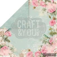 Лист скрапбумаги от Craft and You Design - Vintage Time, 30х30 см, CP-VT05