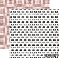 Двусторонний лист бумаги от My Mind's Eye - Cut & Paste Collection by Jen Allyson - Flair Snapshots - Ring, 30,5x30,5см - ScrapUA.com